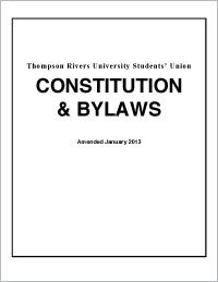Student Union Constitution