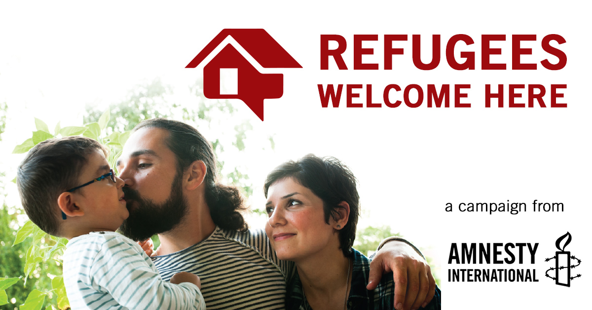 Refugees Welcome Here Trusu